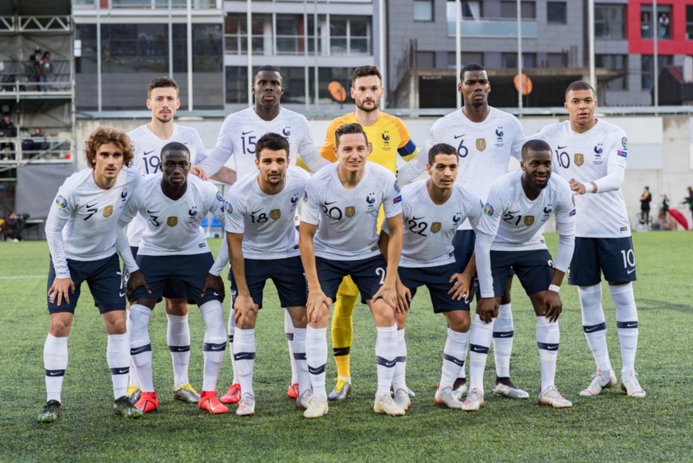 Frankreichs Nationalmannschaft im Juni 2019 gegen Andorra in der UEFA EURO 2020 Qualifikation (Foto Shutterstock)