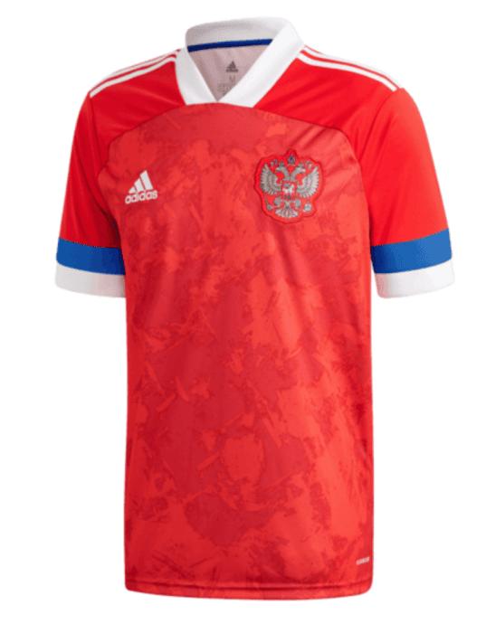 Das neue Heimtrikot von Russland in rot von adidas.