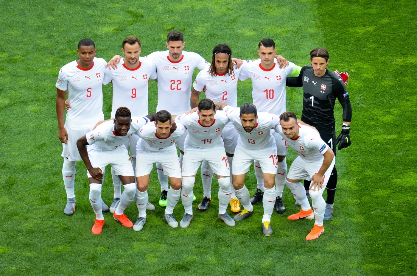 Die Schweizer Nati in der UEFA Nations League gegen Portugal im Juni 2019. (Foto Shutterstock)